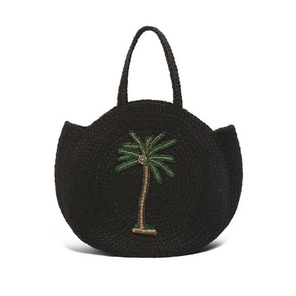 Zara Handbags - Zara embroidered jute bag